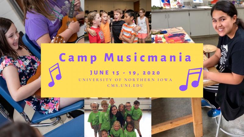 Camp Musicmania June 15-19 2020 cms.uni.edu