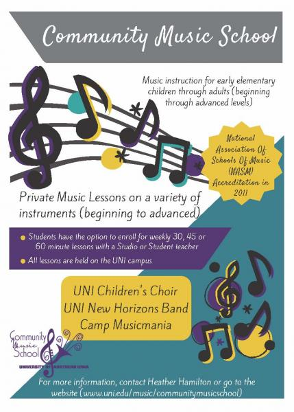Community Music School Flier