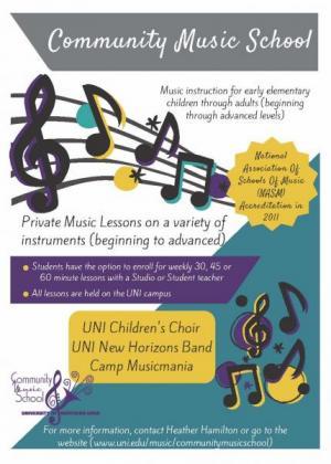 Community Music School Flier