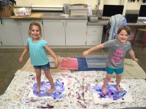 Camp Kids in Art Class