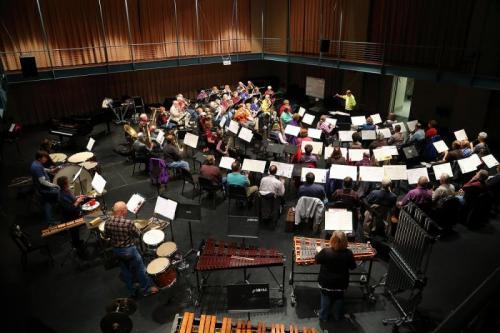 UNI New Horizons Band rehearsal